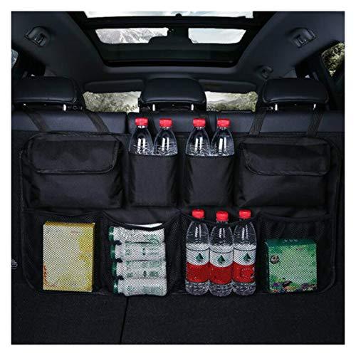 Coche trasero asiento trasero bolsa de almacenamiento multi colgante redes de bolsillo bolsa de bolso organizador candado automático accesorios interiores de ordenación organizador maletero coche 225