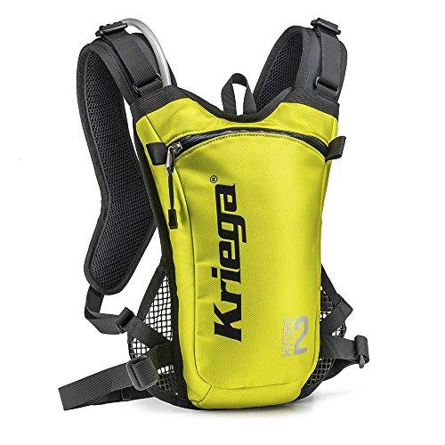 Kriega Hydro 2 Rucksack Wassertasche Trinkbeutel Trinksystem Motocross MX 2 Liter, 6501200, Farbe Gelb