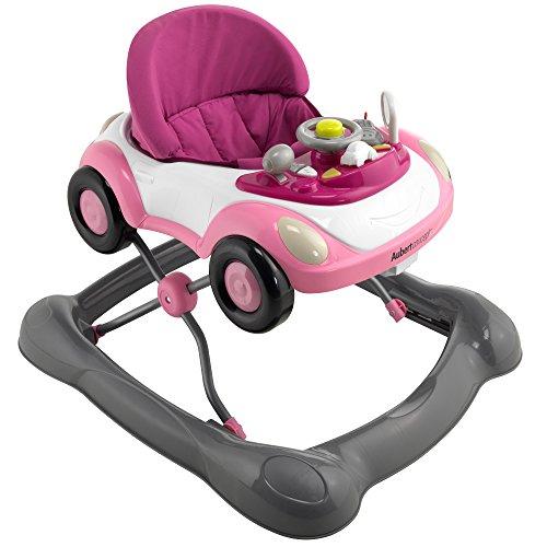 Aubert concept trotteur voiturette rose avec tablette de jeu