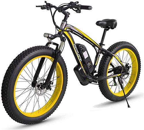 Bicicletas Eléctricas, 26 '' Bicicleta de montaña eléctrica con batería de iones de litio extraíble de gran capacidad (48V 17.5AH 500W) para los viajes de ciclismo al aire libre para hombre funcionan