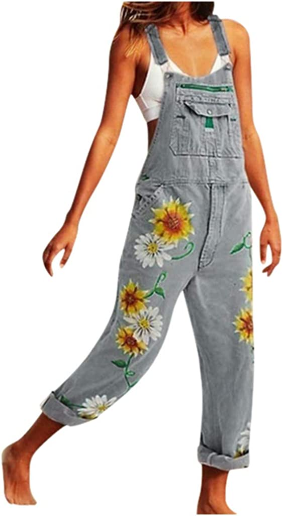 Women's Jumpsuits Overalls with Holes Houston Mall Slim Department store Overal Fit Washed and