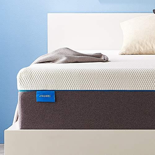 King Size Mattress, JINGWEI 11 Inches Cooling-Gel Memory Foam Mattress Bed in a Box, Certified Foam, Pressure Relief Supportive, Medium...
