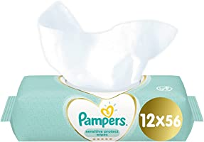 Pampers Sensitive Baby Wipes, 6+6, 672 Count