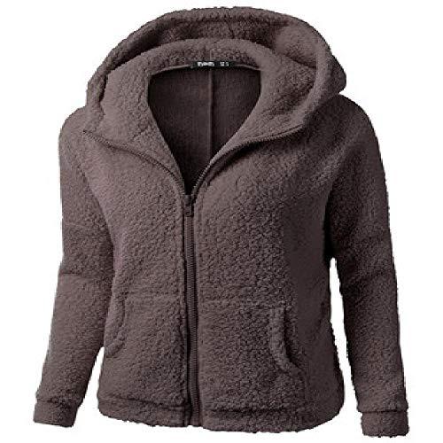 JSEHDF Frauen Kapuzenpullover Mantel Winter Warme Wolle Reißverschluss Mantel Baumwolle Mantel Outwear Winterjacke Frauen