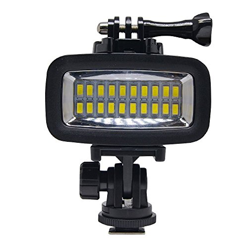SL-100 700LM Diving Video Fill-in Light LED Lighting Lamp Waterproof 40M 1900mAh Built-in Rechargeable Battery with Diffuser for GoPro SJCAM Xiaomi Yi Sports Action Camera