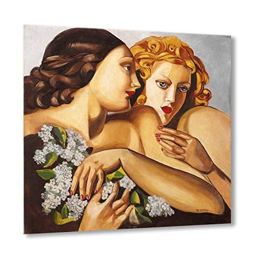 Primavera Tamara De Lempicka Bild auf Leinwand 100 x 100 cm - Lmt35