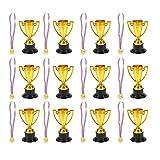 BESPORTBLE 28Pcs Medaglie d'oro in Plastica Medaglie Vincitori Medaglie Premio con Trofei ...