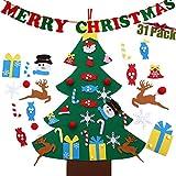 crazy bean árbol de Navidad de Bricolaje con 32 Piezas de Adornos Desmontables Decoración de Pared con Cuerda Colgante para Niños Pequeños Decoración de la Puerta del Hogar