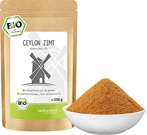 Ceylon Zimt BIO 250 g I gemahlen - Zimtpulver I 100% natürlich ohne Zusätze I Rohkostqualität von bioKontor