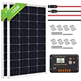 ECO-WORTHY 240 Watt 12V Solar Panel Kit: 2pcs 120W Mono Solar Panels with 20A LCD Charge Controller...
