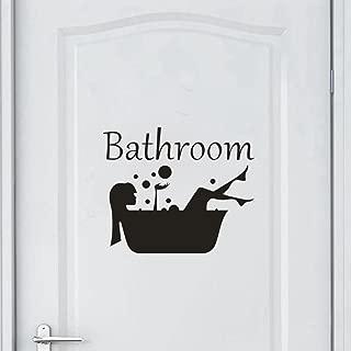Vacally Bathroom Wall Decor Wallpaper Wall Stickers Removable Art Vinyl Mural Home Room Decor