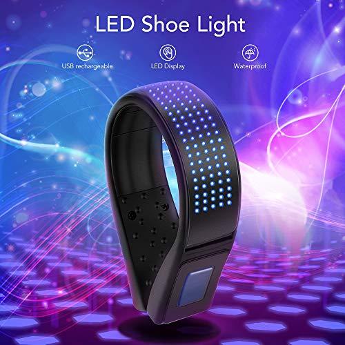 BASEIN LED Sicherheitslicht Clip, USB Wiederaufladbare LED Schuhclip Leuchte, wasserresistentes IP67 Lauflicht mit 11 Blinkmodi für nächtliches Laufen, Joggen, Gehen, Radfahren (Blau)