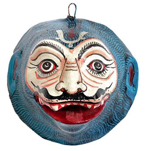 DollsofIndia - Máscara de león de Papel maché, 5.25 x 4.75 x 4.5 Pulgadas (OS05)
