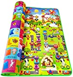 GLUCHIES Double Sided Water Proof Kids Playmat for Baby Play and Crawl Mat(Large Size - 6 Feet X 4...