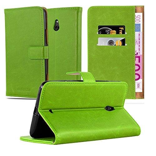 Cadorabo Custodia Libro per Nokia Lumia 1320 in Verde Erbe - con Vani di Carte, Funzione Stand e Chiusura Magnetica - Portafoglio Cover Case Wallet Book Etui Protezione