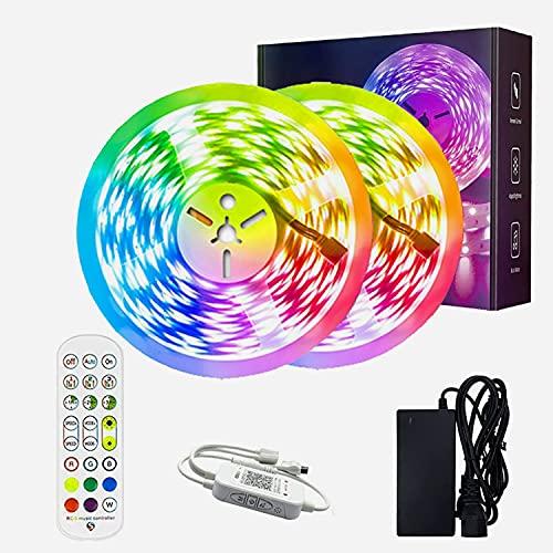 Tiras LED Tira LED con Control Remoto Luces LED Control de APP, Sincronizado Con el Ritmo de la Música, Modo Temporizador, LED Strip para Dormitorio Sala TV Bar Fiesta Decoración (Size : 10M)