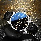 AG Reloj de Hombre multifunción Ultrafino Reloj de cronómetro de Seis Agujas para Correr Segundos de Negocios Reloj de Cuarzo clásico Retro de Moda,Amarillo Negro