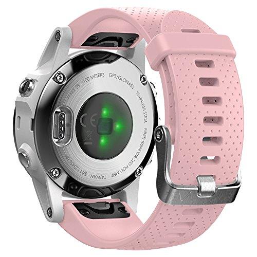 Shieranlee Compatible para Fenix 5S/Fenix 5S Plus Correa,Correa de Repuesto de Silicona de 20mm para Garmin Fenix 5S/Fenix 5S Plus/Fenix 6S/Fenix 6S Pro Smartwatch