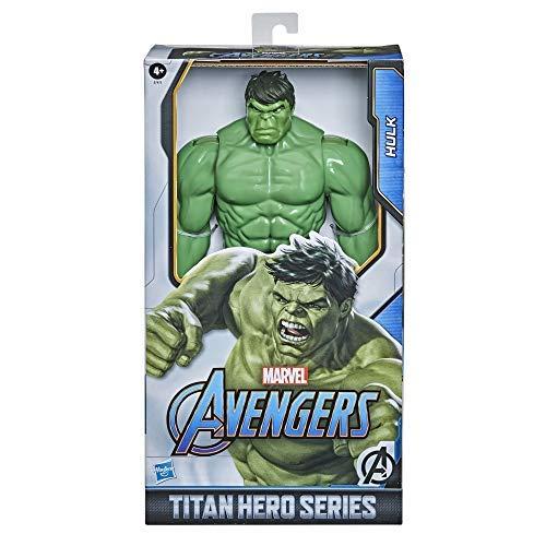 Hasbro E7475 Marvel Avengers Titan Hero Series Blast Gear Deluxe Hulk ActionFigur, 30 cm Spielzeug, inspiriert von Marvel Comics, für Kinder ab 4 Jahren