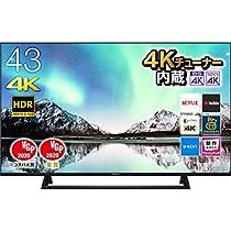 【お買い得】ハイセンス Hisense 43V型 4K 内蔵液晶テレビ NEOエ...