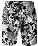 Goodstoworld Hombre Bañador Shorts 3D Playa Natacion Pantalon Corto Poliéster Secado Rápido Ligero Bermuda Moda Shorts XXL