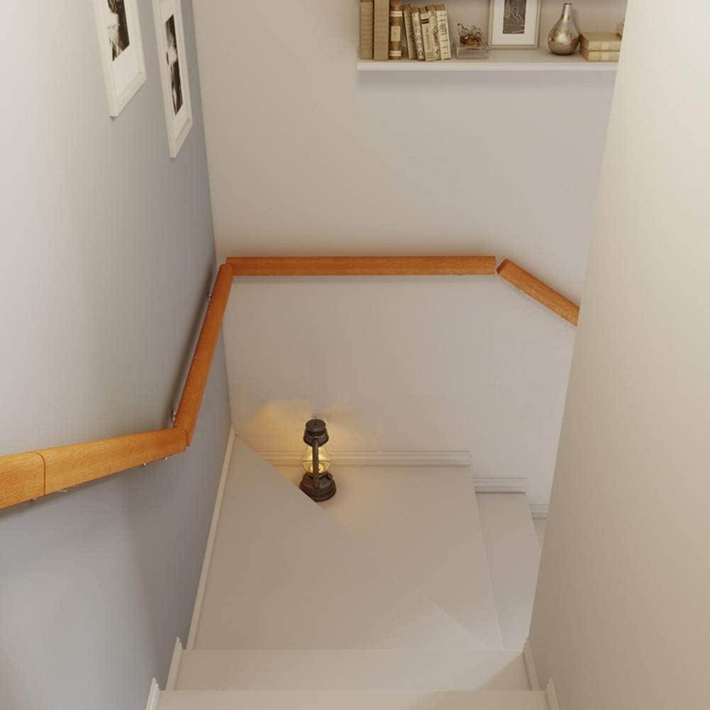 Couloirs Escalier Rampe Supports M/étalliques Mains courantes Rampe descalier en Bois Descalier pour Les Personnes /Âg/ées /à Lext/érieur Int/érieur Balustrades avec Raccords Muraux