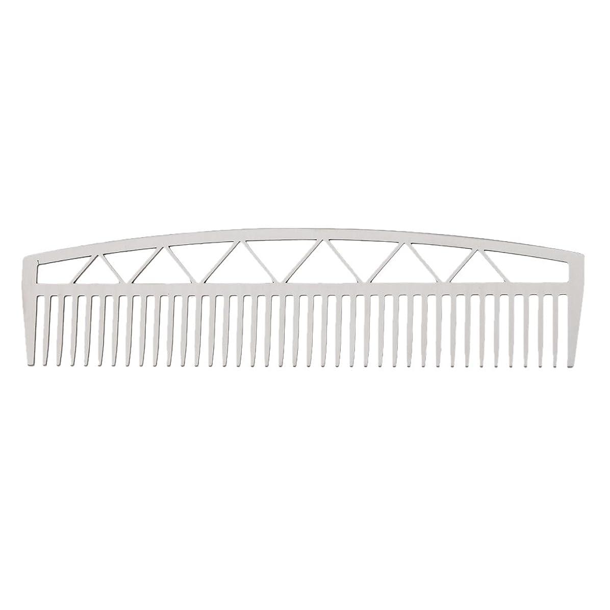 勤勉な迷路準備するビアードコーム ヘアコーム ステンレス鋼 ひげ櫛 メンズ 便利 2タイプ - #2