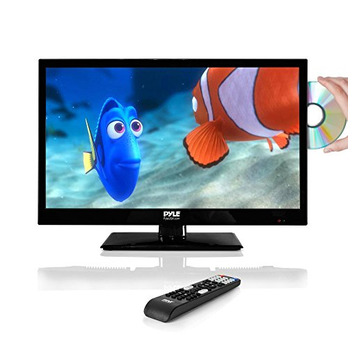 Pyle 21.5' LED TV Monitor   1080p - Multimedia Disc Player - Ultra HD - Audio Streaming - Stereo Speakers, Wall Mount   PTVDLED22 model