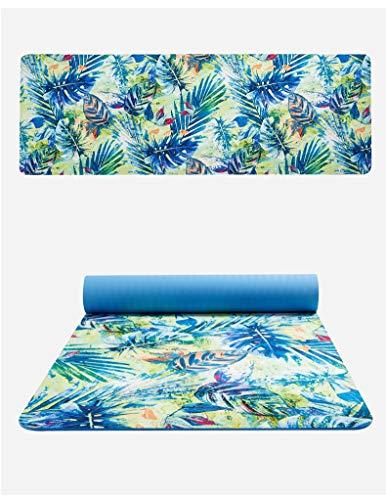 weichuang Esterilla de yoga Pro con estampado de flores, de ante, de 6 mm de grosor, respetuosa con el medio ambiente, antideslizante, para yoga, yoga, pilates, colchón, para fitness, (color: 4)