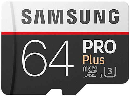 Samsung PRO Plus Micro SDXC 64GB tot 100MB/s, Class 10 U3 geheugenkaart (incl. SD-adapter)
