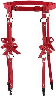 IPOTCH Cintura Imbracatura Cinturino per Corpo Anello Coscia Pantaloncini con Manette in Pelle PU Tuta per Costumi di Halloween
