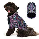 Youmi Reflective Dog Clothes, Lightweight High Visibility with Adjustable Srtap, Reflective Dog Coat with Leash Hole for Deep Chest Small Dogs, Reflective Material to Keep Dogs Safe While Walking(S)