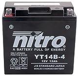 YT14B-N- 4 NITRO-Batteria Moto AGM chiuso