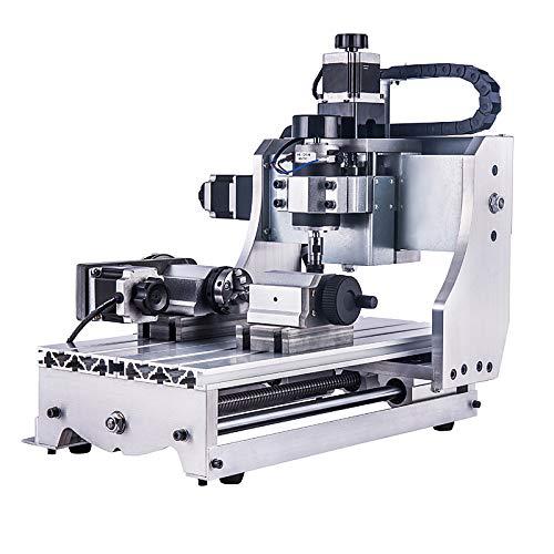 SISHUINIANHUA 4-Achsen-CNC-Fräser 3020 T-D300 Mini-Fräsmaschine mit Weiß Control Box gravieren