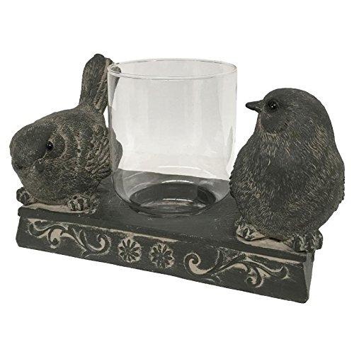 CHIN_DE_CAM Kandelaar, windlicht, vogel voor kaarsen, vlak, 18 cm