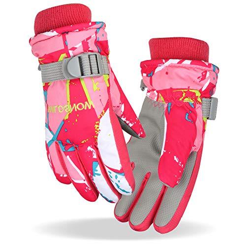 Fengzio Skihandschuhe für Kinder/Herren/Damen wasserdichte und Winddichte Winterhandschuhe Warm Sporthandschuhe Snowboard Handschuhe für Outdoor-Sport in Winter Fahrradhandschuhe Warme Handschuhe
