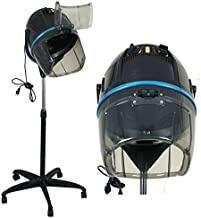 ZENY Hair Dryer 1300W Adjustable Hooded Floor Stand Bonnet Rolling Wheels Stand Up Hair..