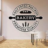 WERWN Logotipo de panadería calcomanías de Pared panadería Cocina Productos de panadería panadería decoración de Interiores Puertas y Ventanas Pegatinas de Vinilo Papel Tapiz artístico