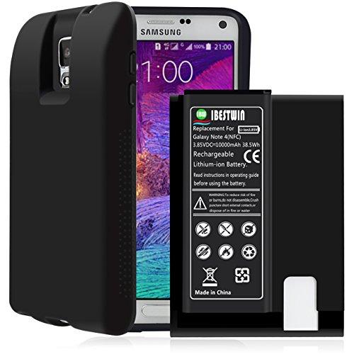 Ibestwin Note 4 Batterie 3.85V 10000mAh Hohe Kapazität Ersatzakku Samsung Galaxy Note 4 [12 Monate Garantie]