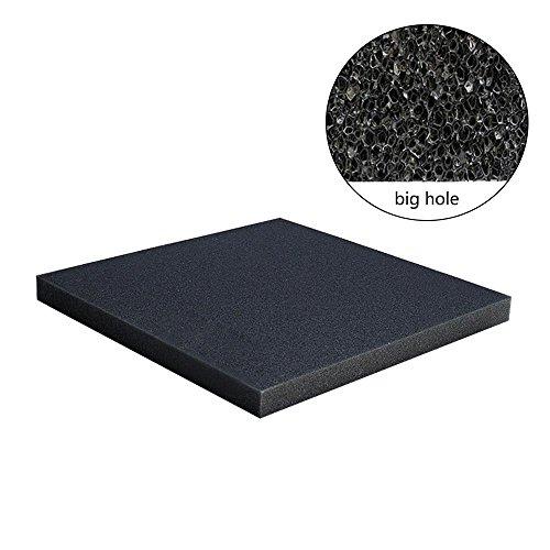 KOBWA Filtro de Esponja de Espuma para Acuario, 50 x 50 x 2 cm, bioquímico y de Algodón