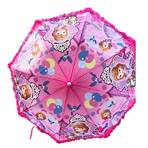 JSJJAET Paraguas Los niños Paraguas semiautomática Paraguas Niños Estudiante (Color : Sofia Random)