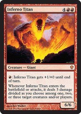 Magic The Gathering - Inferno Titan (114/356) - Commander 2013