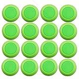 justfund 50pcs Verde EVA niños bala de pistola de juguete dardos cabeza redonda Blasters suave Disco para munición Nerf Vortex recargas
