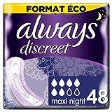 Always Discreet, Perdite Urinarie Maxi, Notte, 4 x 12 pezzi