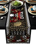 ARTSHOWING Halloween Table Runner Dangerous Magical Game Ouija Board Rectangular Runner for Party Decoration Wedding Baby Shower Birthday Bachelor Party Holiday Party Event, 13x70 Inch