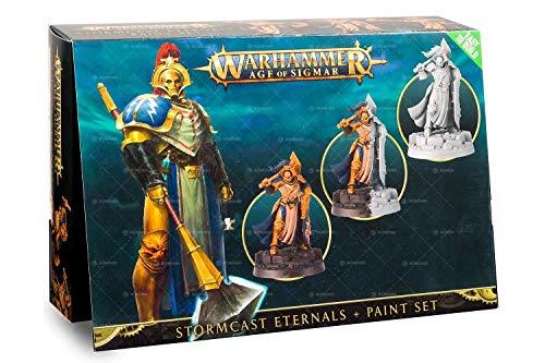 Games Workshop Warhammer Age of Sigmar Stormcast Eternals + Paint Set