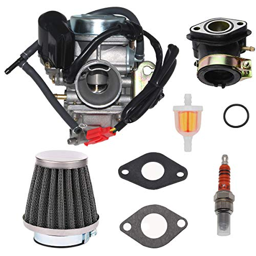 GY6 150cc Carburetor for GY6 4 Stroke Engines 125cc 150cc ATV Go Karts Scooter Mopeds QMJ/QMI157 QMJ/QMI152 / 24mm PD24J Carb