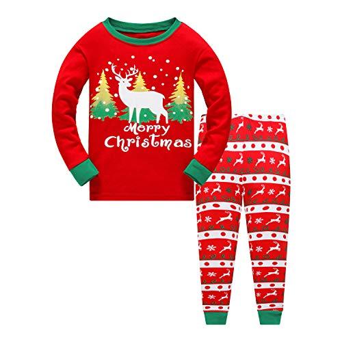 Garsumiss Niña Niños Bebé Xmas Pijama Sleepwear Conjunto de Pijama de Manga Larga Niño Navidad Pijama Santa...