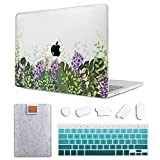 MAITTAO 4 in 1 Bundle Older MacBook Pro 13 inch Case 2012-2015 Release,Plastic Pattern Hard Shell & Laptop Sleeve & Keyboard Cover for Mac Book Pro 13 Retina Display A1502 A1425, Meadow Floral