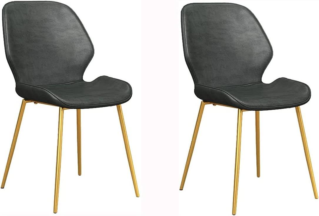 Award VEESYV Kitchen Dining Max 87% OFF Chair Set of Simple Modern PU 2 Leather Ba